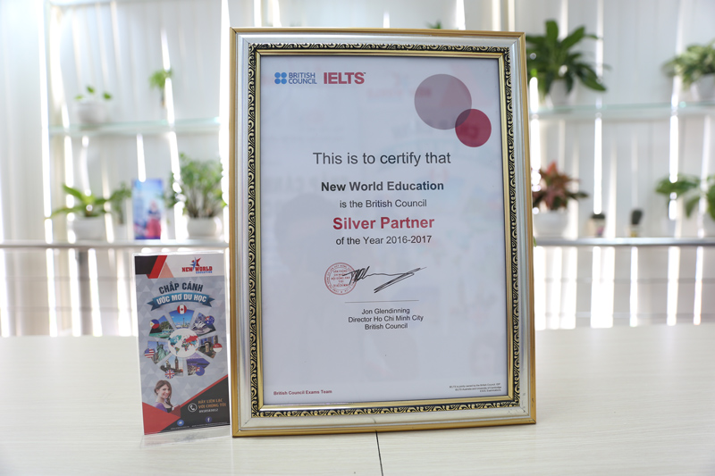 British Council Silver Partner Of The Year 2016 - 2017